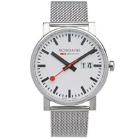 Mondaine Evo Big Date 40Mm Watch Silver