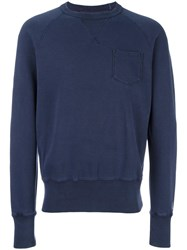 Champion Crew Neck Sweatshirt Blue