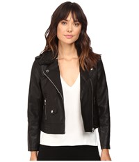 Obey Billie Vegan Leather Jacket Black Women's Coat