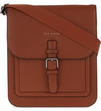 Ted Baker Paristo Leather Messenger Bag Tan