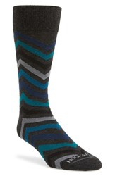 Men's Hook Albert 'Chevron' Socks Blue Green Blue Teal