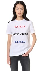 Etre Cecile Paris New York Pluto T Shirt White