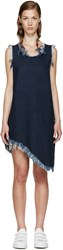 Marques Almeida Indigo Denim Asymmetric Dress