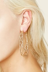 Forever 21 Etched Spiral Hoop Earrings
