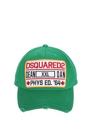 Dsquared Patch Canvas Baseball Hat