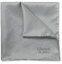 Charvet Silk Pocket Square Gray
