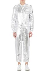 Moncler Gamme Bleu Down Padded Jumpsuit Silver Size 1 36 Us