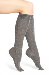 Women's Nordstrom Merino Wool Blend Knee Socks Grey
