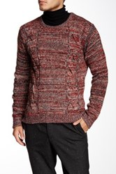 Yoki Cable Knit Sweater Red