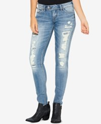 Silver Jeans Co. Tuesday Ripped Indigo Wash Skinny