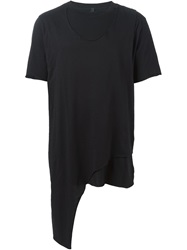 Barbara I Gongini Layered Round Neck T Shirt Black
