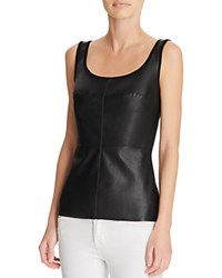 Bailey 44 Leather Front Tank Black