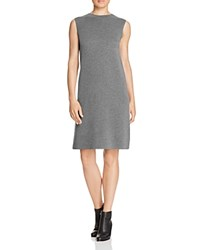 Eileen Fisher Sleeveless Wool Sweater Dress Ash