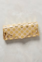 Anthropologie Polka Dotted Leather Wallet Gold