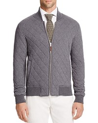 Eleventy Quilted Baseball Jacket Grey Brown