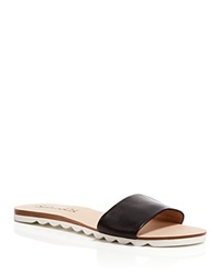 Splendid Open Toe Flat Slide Sandals Paige Black