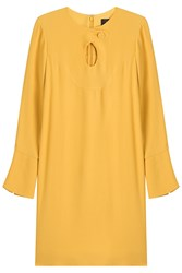 Derek Lam Crepe Dress With Cut Out Yellow