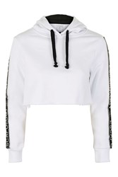 Escapology Cropped Hoodie By White