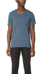 Club Monaco Joe V Neck Tee Yacht Blue