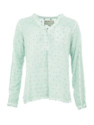 Garcia Cotton Dotted Blouse Green