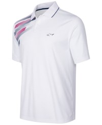 Greg Norman For Tasso Elba Men's Graphic Print Performance Polo Only At Macy's Bright White