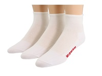 Wigwam Ironman Triathlete Pro Quarter 3 Pair Pack White Quarter Length Socks Shoes