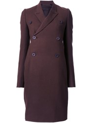Rick Owens Mid Length Pea Coat Brown