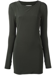 Maison Martin Margiela Mm6 Layered Mini Dress Green