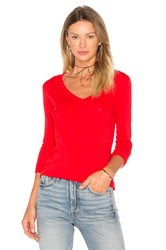 Bobi Light Weight Jersey Front Pocket Long Sleeve Top Red