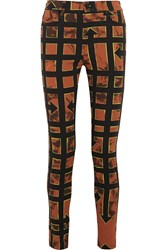 Mcq By Alexander Mcqueen Printed High Rise Skinny Jeans Red