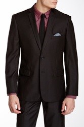 Nicole Miller Solid Charcoal Two Button Notch Lapel Suit Separates Jacket Gray