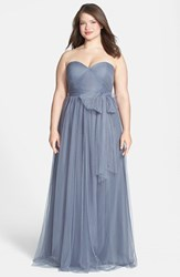 Plus Size Women's Jenny Yoo 'Annabelle' Convertible Tulle Column Dress Hydrangea
