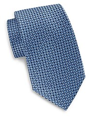 English Laundry Circle Silk Tie Light Blue