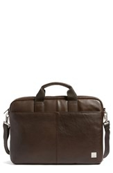 Men's Knomo London 'Brompton Durham' Leather Briefcase Brown