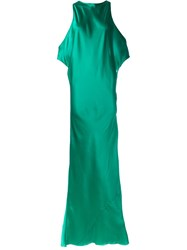 Ann Demeulemeester Draped Maxi Dress Green