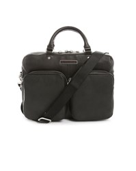 Tommy Hilfiger Black Paolo Leather Briefcase