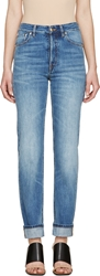 Maison Martin Margiela Blue Faded Straight Jeans