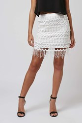 Vallance Ivory Lace Mini Skirt By Goldie
