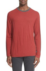 Men's Armani Collezioni Colorblock Long Sleeve T Shirt