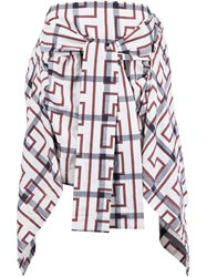 Vivienne Westwood Anglomania Tied Shirt Design Skirt White