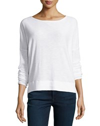 Vince Boat Neck Slub Sweater Optic White
