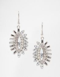 Designsix Statement Gem Earrings Silver
