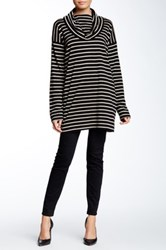 Joan Vass Long Sleeve Cowl Tee Multi