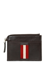 Bally Leather Coin Pocket And Credit Card Holder Chocolate