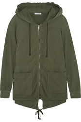 James Perse Stretch Cotton Twill Hooded Jacket