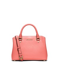 Savannah Small Patent Saffiano Leather Satchel