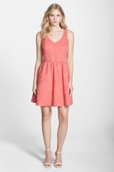 Felicity And Coco Bow Back Jacquard Fit And Flare Dress Orange