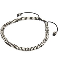 M Cohen Stacked Bead Bracelet Silver Black