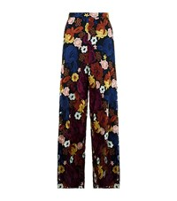Alice Olivia Athena Wide Leg Floral Trousers Female Black