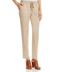 Three Dots Kai Drawstring Linen Pants Spiced Bourbon